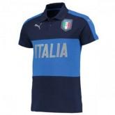 Maillot Italie Polo Bleu Fonce 2016 2017