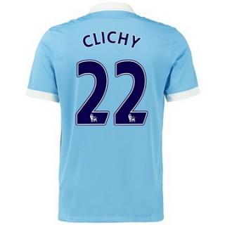 Maillot Manchester City Clichy Domicile 2015 2016