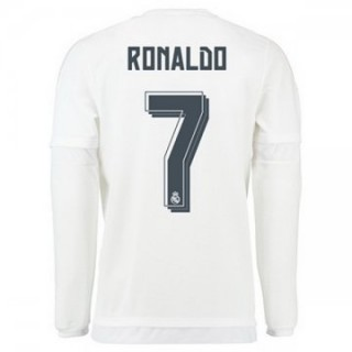 Maillot Real Madrid Manche Longue Ronaldo Domicile 2015 2016