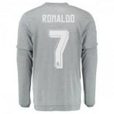 Maillot Real Madrid Manche Longue Ronaldo Exterieur 2015 2016
