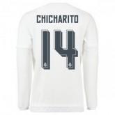 Maillot Real Madrid Manche Longue Chicharito Domicile 2015 2016