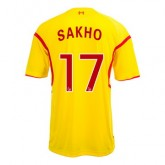 Maillot Liverpool Sakho Exterieur 2014 2015
