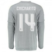 Maillot Real Madrid Manche Longue Chicharito Exterieur 2015 2016